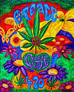 420 Digital Art Posters - Love and Peace Poster by Diana Haronis