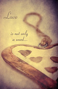 Postcard Mixed Media - Love... by Angela Doelling AD DESIGN Photo and PhotoArt