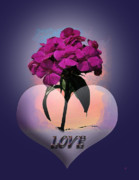 Pink Flower Prints Posters - Love Poster by Gerlinde Keating - Keating Associates Inc