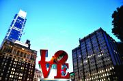 """love Park""  Framed Prints - Love in the Dark Framed Print by Andrew Dinh"