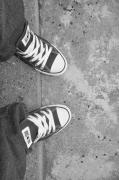 Brynn Ditsche Metal Prints - Love My Converse Metal Print by Brynn Ditsche
