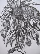 Florida Flowers Drawings - Love without fear by Anita Wexler