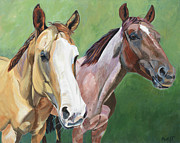 Equine Artist Prints - Lovely and Sugar Print by Anne West