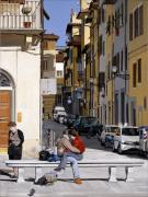 Photorealism Prints - Lovers in Santa Croce Print by Matthew Bates