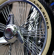 Lowrider Prints - Low Rider and Silver Spokes - II Print by Tam Graff