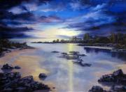 Sunset Reliefs - Low Tide Sunset by John Cocoris