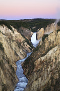 Yellowstone National Park Posters - Lower Falls On The Yellowstone River Poster by Drew Rush