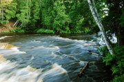 Michigan Waterfalls Prints - Lower Tahquamenon Falls Print by Michael Peychich