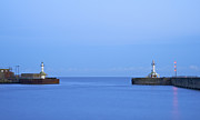 Summer Squall Prints - Lowestoft Harbour Lights Print by Michael Stretton