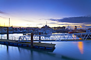 Summer Squall Prints - Lowestoft Marina Print by Michael Stretton