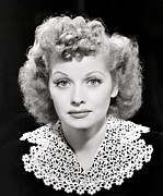 Lucille Ball Prints - Lucille Ball Portrait, 1940s Print by Everett