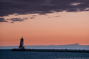 Stearns Framed Prints - Ludington North Breakwater Lighthouse Framed Print by Sebastian Musial