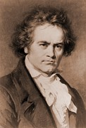 Beethoven Framed Prints - Ludwig Van Beethoven 1770-1827 Framed Print by Everett