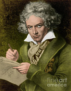 Problems Prints - Ludwig Van Beethoven, German Composer Print by Photo Researchers