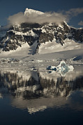 Snow-covered Landscape Photo Prints - Luigi Peak Wiencke Island Antarctic Print by Colin Monteath