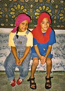 Girl In Turban Prints - Luke and Catherine in Marrakech Print by Sarah Loft