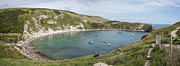 2012 Digital Art Framed Prints - Lulworth Cove Dorset Framed Print by Donald Davis