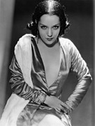 Satin Dress Photo Framed Prints - Lupe Velez, Ca. Early 1930s Framed Print by Everett