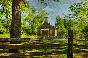 Rural Living Metal Prints - Lutz-Franklin Schoolhouse Metal Print by Paul Ward