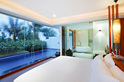 Shower Curtain Art - Luxury Bedroom by Setsiri Silapasuwanchai