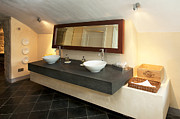 Tiled Prints - Luxury Public Bathroom Print by Jaak Nilson