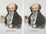 Champagne Photos - M. Van Buren: Cartoon, 1840 by Granger