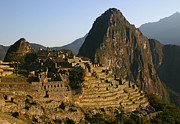 Stone Steps Posters - Machu Picchu at dawn Poster by Matt Tilghman