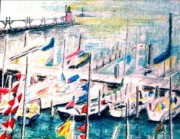 Sailboats Drawings - Mackinaw Island by Kimberly Simon