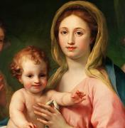 Christ Paintings - Madonna and Child by Anton Raphael Mengs
