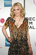 Because Prints - Madonna Wearing A Gucci Dress Print by Everett