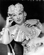 Bracelet Framed Prints - Mae West, 1936 Framed Print by Everett