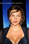 Premiere Metal Prints - Maggie Gyllenhaal At Arrivals Metal Print by Everett