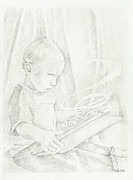 Child Reading Drawings - Magical by Pride