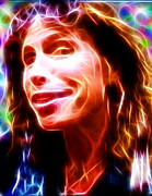 Steven Tyler Aerosmith Drawings - Magical Steven Tyler by Paul Van Scott