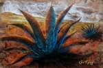 Paper Mixed Media Framed Prints - Maguey Framed Print by Juan Jose Espinoza