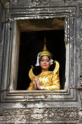 Angkor Thom Prints - Makala Dancer in Cambodia Print by Michele Burgess