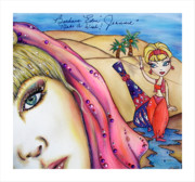 Barbara Eden Framed Prints - Make A Wish Framed Print by Joseph Lawrence Vasile