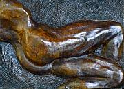 Male Nude Relief Reliefs - Male Dancer In Repose by Dan Earle