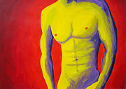 Mans Chest Prints - Male Nude Frontal Print by Randall Weidner