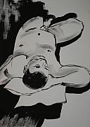 Nudes Drawings - Male Nude by Joanne Claxton