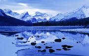 Maligne Lake Framed Prints - Maligne Lake, Jasper National Park Framed Print by Darwin Wiggett