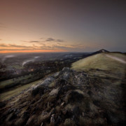 Winter Night Framed Prints - Malvern Hills Framed Print by Angel  Tarantella