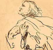 Man Portrait Print by Odon Czintos