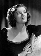 Gold Trim Prints - Man-proof, Myrna Loy Mgm Portrait Print by Everett