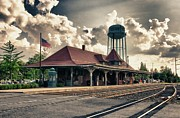Back Roads Posters - Manassas Train Station Poster by Gene Sizemore