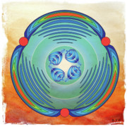 Metaphysics Prints - Mandala No.7 Print by Alan Bennington
