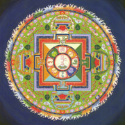 Tibet Painting Framed Prints - Mandala of Avalokiteshvara           Framed Print by Carmen Mensink
