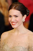 Stud Earrings Posters - Mandy Moore Wearing Chopard Earrings Poster by Everett