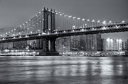 Brooklyn Bridge Photo Prints - Manhattan Bridge II Print by Clarence Holmes