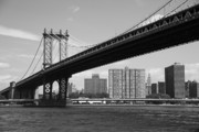 Tenements Prints - Manhattan Bridge - New York City Print by Frank Romeo